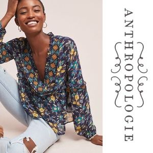 NWT Anthropologie Strasser Embroidered Blouse